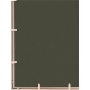 多目的 フレーム/額縁 【A2 ブラック】 縦61.8cm×横44.2cm×高さ0.8cm 表面カバー:UVカット機能付きPET 『かる!フレーム』