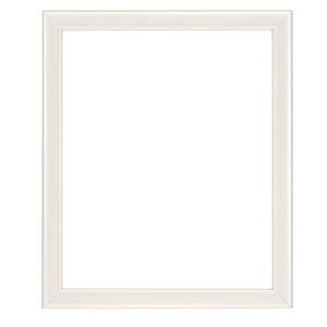 シンプルテイスト 額縁/フレーム 【三三 パールホワイト】吊金具付 木製
