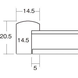 色紙額縁/フレーム 【8×9 ホワイト】吊金具...の紹介画像2