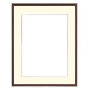 大額 水彩額 水彩F8 ブラウン 55巾 アクリル 紙マット付き 【51×59.5×3.6cm】