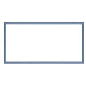 ナチュラル仕様額縁/フレーム【横長型500×250ブルー】吊金具付き木製