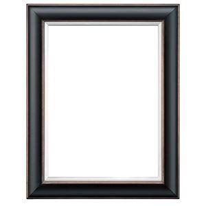 シンプル仕様 油絵額縁/油彩額縁 【F8 ブラック】 表面カバー:アクリル 吊金具付き 木製