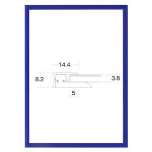 大額 アルミ額 かる! フレームカラーズ(5015) B1 ブルー 【1050×748×8mm】