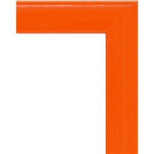 大額 アルミ額 かる! フレームカラーズ(5015) A2 オレンジ 【614×440×8mm】