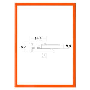 大額 アルミ額 かる! フレームカラーズ(5015) B1 オレンジ 【1050×748×8mm】