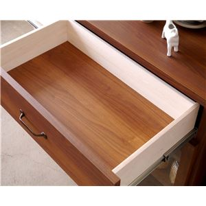 木目調キッチンカウンター/キッチン収納 【幅120cm】 引き出し収納 扉付き スライド棚 『MONTシリーズ』