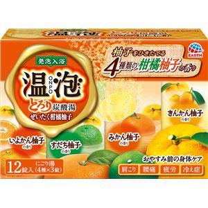アース製薬 温泡とろり炭酸湯ぜいたく柑橘柚子12錠入 × 3 点セット