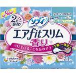 ユニ・チャーム ソフィエアフィットスリムハッピーブーケの香り210羽つき24枚 × 5 点セット