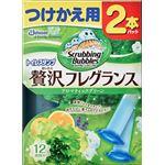 ジョンソン スクラビングバブルトイレスタンプぜいたくフレグランスアロマティックグリーンの香り つけかえ用2本パック × 3 点セット