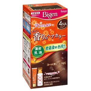 (まとめ)ホーユービゲン香りのヘアカラー乳液4NAナチュラリーブラウン【×3点セット】