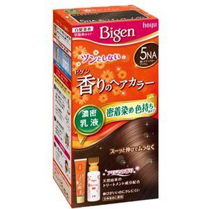 ホーユー ビゲン 香りのヘアカラー 乳液 5NA 深いナチュラリーブラウン × 3 点セット