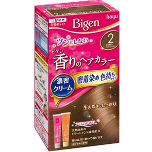 ホーユー ビゲン 香りのヘアカラー クリーム 2 より明るいライトブラウン × 3 点セット