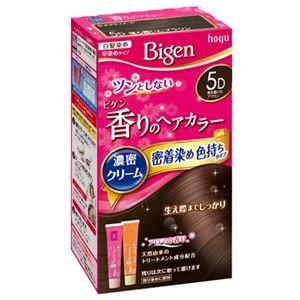 ホーユー ビゲン 香りのヘアカラー クリーム 5D 落ち着いたブラウン × 3 点セット