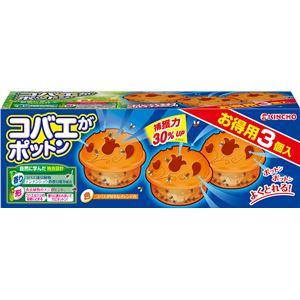 大日本除虫菊(金鳥) コバエガポットン置くタイプT3個入り × 3 点セット