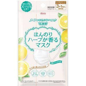 (まとめ)興和新薬三次元ほんのりハーブが香るマスクグレープフルーツの香り3+1枚【×10点セット】