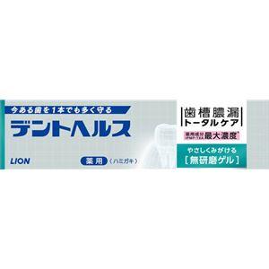 ライオン デントヘルス薬用ハミガキ無研磨ゲル 28g × 10 点セット