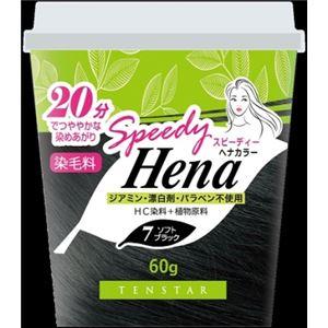 (まとめ)三宝商事 THH-03 テンスター スピーディーヘナカラー ソフトブラック 60g 【×6点セット】