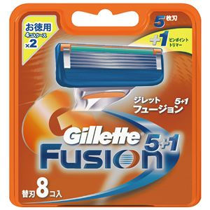 (まとめ)ジレット フュージョン5+1替刃8B 【×10点セット】