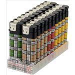 【ケース販売】 東海 CR P2タータンチェック 電子ライター × 60 点セットの画像