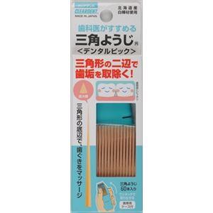 【ケース販売】 広栄社 クリアデント三角ようじ60本 × 480 点セット
