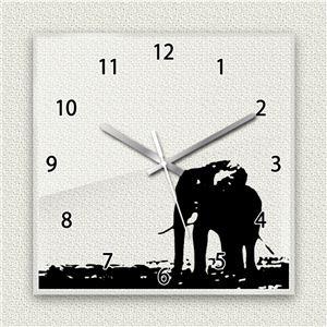 壁掛け時計/デザインクロック 【サファリ02】 30cm角 アクリル素材 『MYCLO』 〔インテリア雑貨 贈り物 什器〕