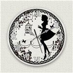 壁掛け時計/デザインクロック 【アリス】 直径30cm アクリル素材 『MYCLO』 〔インテリア雑貨 贈り物 什器〕の画像