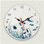 壁掛け時計/デザインクロック 【シーフロア】 直径30cm アクリル素材 『MYCLO』 〔インテリア雑貨 贈り物 什器〕の画像