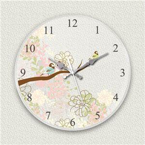 壁掛け時計/デザインクロック 【小鳥】 直径30cm アクリル素材 『MYCLO』 〔インテリア雑貨 贈り物 什器〕