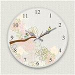 壁掛け時計/デザインクロック 【小鳥】 直径30cm アクリル素材 『MYCLO』 〔インテリア雑貨 贈り物 什器〕の画像