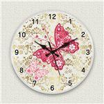 壁掛け時計/デザインクロック 【バタフライ】 直径30cm アクリル素材 『MYCLO』 〔インテリア雑貨 贈り物 什器〕の画像