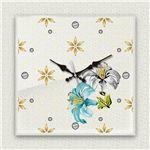壁掛け時計/デザインクロック 【百合】 30cm角 アクリル素材 『MYCLO』 〔インテリア雑貨 贈り物 什器〕の画像
