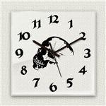 壁掛け時計/デザインクロック 【スカル】 30cm角 アクリル素材 『MYCLO』 〔インテリア雑貨 贈り物 什器〕の画像