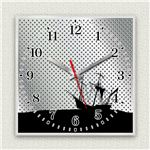 壁掛け時計/デザインクロック 【沈没船】 30cm角 アクリル素材 『MYCLO』 〔インテリア雑貨 贈り物 什器〕の画像