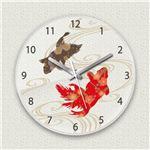 壁掛け時計/デザインクロック 【金魚】 直径30cm アクリル素材 『MYCLO』 〔インテリア雑貨 贈り物 什器〕の画像