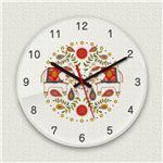 壁掛け時計/デザインクロック 【インド象】 直径30cm アクリル素材 『MYCLO』 〔インテリア雑貨 贈り物 什器〕の画像