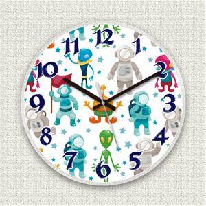 壁掛け時計/デザインクロック 【スペースパイロット】 直径30cm アクリル素材 『MYCLO』 〔インテリア雑貨 贈り物 什器〕