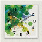 壁掛け時計/デザインクロック 【ハニカム】 30cm角 アクリル素材 『MYCLO』 〔インテリア雑貨 贈り物 什器〕の画像