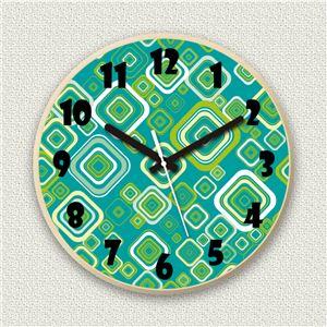 壁掛け時計/デザインクロック 【グリーンポップ】 直径30cm 木材/メープル調素材 『MYCLO』 〔インテリア雑貨 贈り物 什器〕