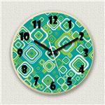 壁掛け時計/デザインクロック 【グリーンポップ】 直径30cm 木材/メープル調素材 『MYCLO』 〔インテリア雑貨 贈り物 什器〕の画像