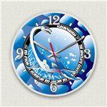壁掛け時計/デザインクロック 【エラスモサウルス】 直径30cm アクリル素材 『MYCLO』 〔インテリア雑貨 贈り物 什器〕