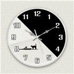 MYCLO壁掛け時計「シルエットネコ」
