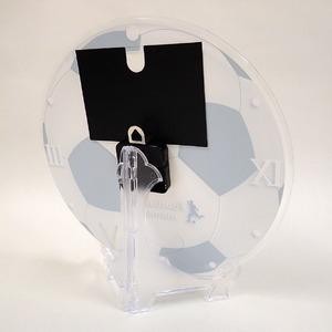 フォトフレーム時計/デザインクロック 【グラウンド】 幅30cm アクリル製 L版 『MYCLO』 〔送別品 記念品 贈り物〕