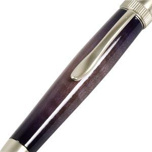 日本製 Air Brush Wood Pen キャンディカラー ボールペン(ギター塗装)【パーカータイプ/芯:0.7mm】Purple/カーリーメイプル