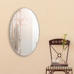 デザイン ウォールミラー/壁掛け鏡 【幅40cm×奥行3cm×高さ60cm】 飛散防止加工の画像