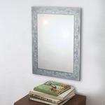 ノンフレーム ウォールミラー/壁掛け鏡 【幅45cm×奥行3cm×高さ60cm】 飛散防止加工