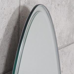 ノンフレーム ウォールミラー/壁掛け鏡 【幅40cm×奥行3cm×高さ145cm】 飛散防止加工