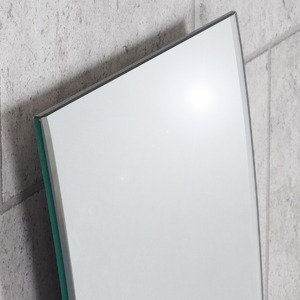 ノンフレーム ウォールミラー/壁掛け鏡 【幅43cm×奥行3cm×高さ120cm】 飛散防止加工