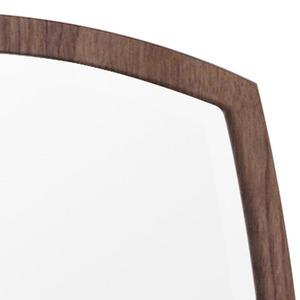 デザイン ウォールミラー/壁掛け鏡 【No.1 ブラウン】 飛散防止加工 『アルク』