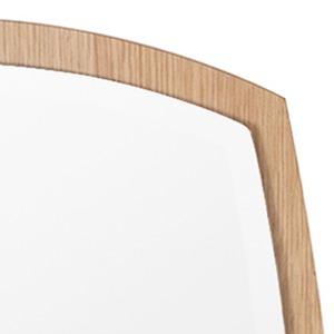 デザイン ウォールミラー/壁掛け鏡 【No.2 ナチュラル】 飛散防止加工 『アルク』
