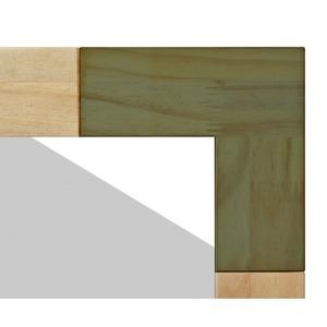 ナチュラルテイスト デスクミラー/卓上鏡 【グレー】 幅30cm 枠:パイン材 飛散防止加工 『KACCO』